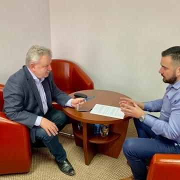 Wizyta senatora Kazimierza Kleiny w Urzędzie Gminy Potęgowo