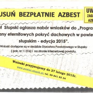 Zdjęcie przedstawiające plakat programu Usuń bezpłatnie azbest