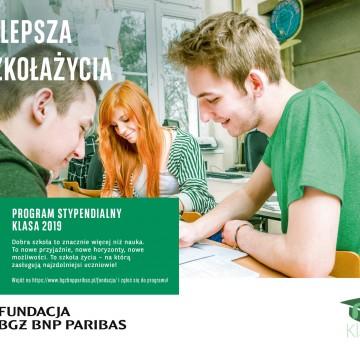 Fundacja BGŻ BNP Paribas rekrutuje absolwentów gimnazjów i podstawówek