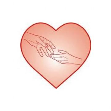 Obrazek przedstawiający serce z dłońmi