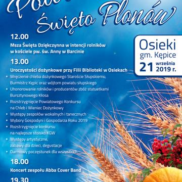 Zaproszenie na Powiatowe Święto Plonów w Osiekach