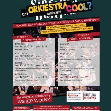 Plakat zapraszający do udziału w koncercie