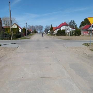 wyremontowana nawierzchnia ulicy Szerokiej w Potęgowie
